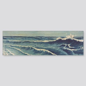 Japan Ocean Waves bumper sticker