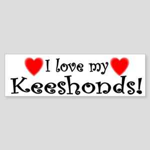 I Love My Keeshonds Bumper Sticker