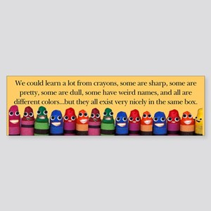 Peaceful Crayons Bumper Sticker