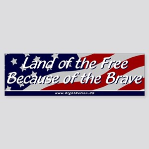 Land of the Free Sticker (Bumper)