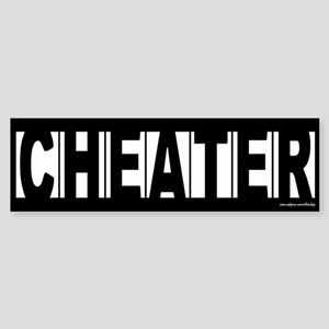 CHEATER Sticker for Prank or Revenge Sticker (Bump