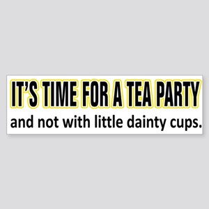 Tea Party Time Bumper Sticker