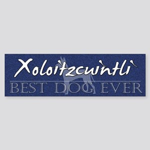 Best Dog Ever Xoloitzcuintli Bumper Sticker