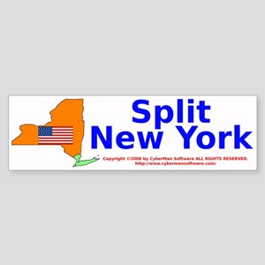 Split New York Bumper Sticker