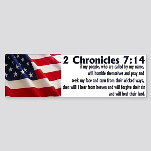 2 Chronicles 7:14 Bumper Sticker