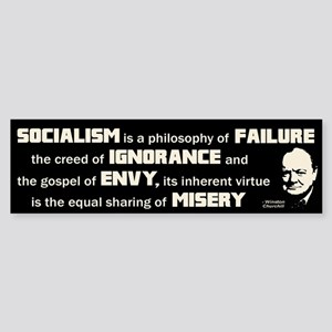 Churchill Socialism Quote Sticker (Bumper)