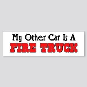 My Other Car Is A Fire Truck Bumper Sticker