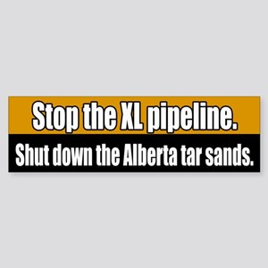 XL Pipeline Tar Sans Bumper Sticker