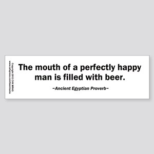 Mouth Happy Man Beer Sticker (Bumper)