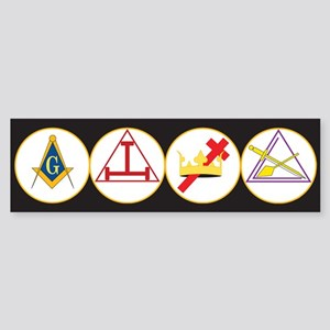 York Rite Bodies Sticker (Bumper)