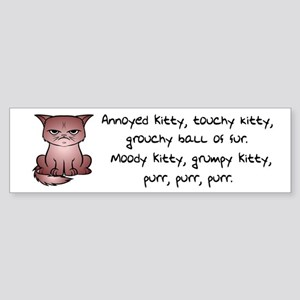 Grouchy Kitty Bumper Sticker