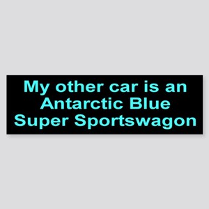Antartic Blue Super Sportswagon Sticker (Bumper)