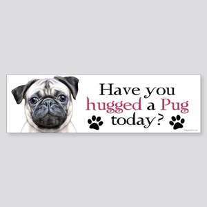Pug Hug Sticker (Bumper)