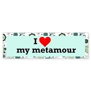 I Love Metamour Polyamory Bumper Sticker