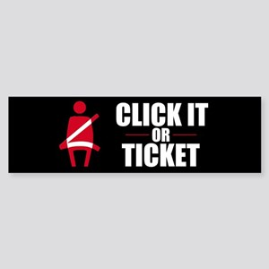 Click It or Ticket Bumper Sticker