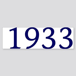 1933 Sticker (Bumper)