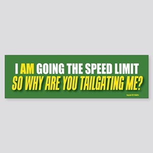 TG 1  I am going speed Bumper Sticker