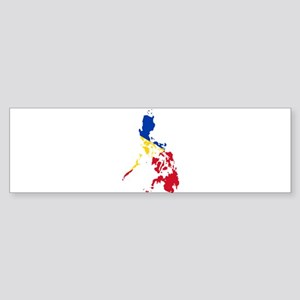 Philippines Flag and Map Sticker (Bumper)