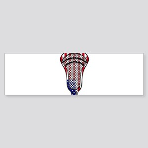Lacrosse_HeadFlag - Copy Bumper Sticker