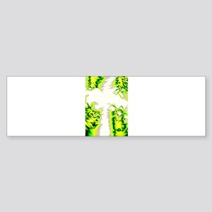 Green Pastel Cross Bumper Sticker