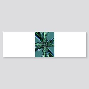 Electric Green Cross Bumper Sticker