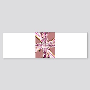 Electric Pink Cross Bumper Sticker