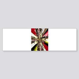 Electric Red Cross Bumper Sticker