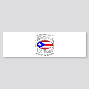 Boricua 100 Proof2 Sticker (Bumper)