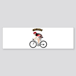 Cycling with Text Sticker (Bumper)