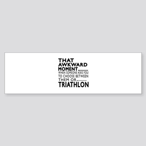 Triathlon Awkward Moment Designs Sticker (Bumper)