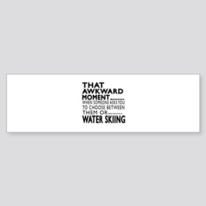 Water Skiing Awkward Moment Desig Sticker (Bumper)