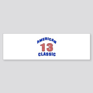 American Classic 13 Birthday Sticker (Bumper)