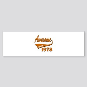 Awesome Since 1978 Birthday Desig Sticker (Bumper)