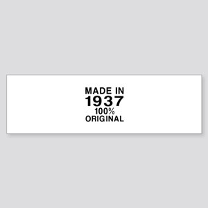 Made In 1937 Sticker (Bumper)