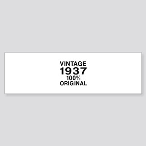 Vintage 1937 Birthday Designs Sticker (Bumper)