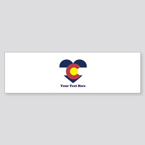 Colorado Flag Heart Personalized Sticker (Bumper)