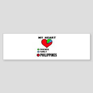 My Heart Friends, Family and Phil Sticker (Bumper)