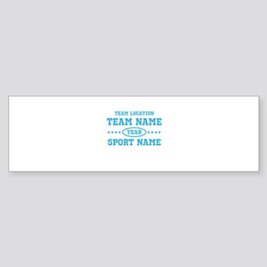 Sports Team Personalized Sticker (Bumper)
