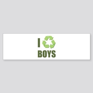 I Recycle Boys Sticker (Bumper)