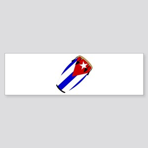 Conga Cuba Flag music Bumper Sticker