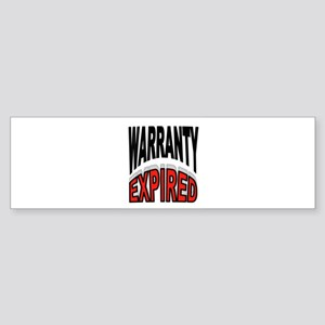 WARRANTY Bumper Sticker