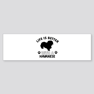 Havanese dog gear Sticker (Bumper)
