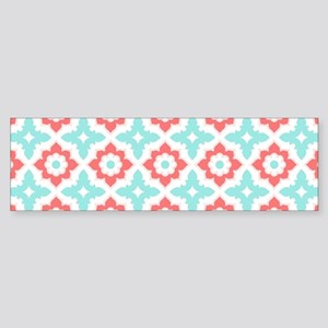 Moroccan Tile Pattern Bumper Sticker