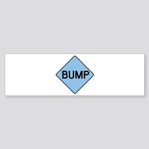 BABY BUMP (BLUE) Bumper Sticker