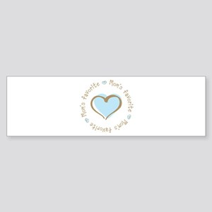 Mom's Favorite Boy Heart Bumper Sticker