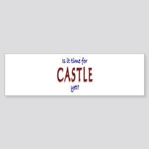 Time For Castle Sticker (Bumper)
