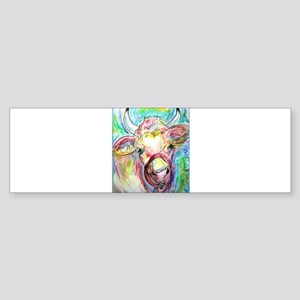 Cow, colorful, art, Sticker (Bumper)