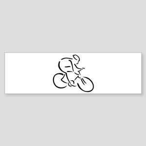 Cycling cyclist Sticker (Bumper)