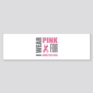 Pink Awareness Ribbon Customized Sticker (Bumper)