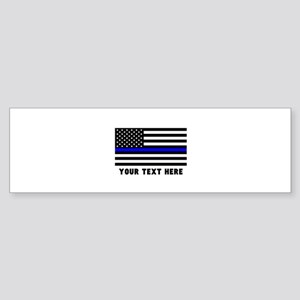 Thin Blue Line Flag Sticker (Bumper)